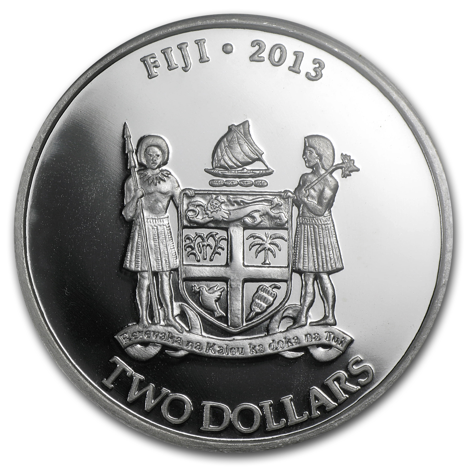 2013 1 oz Silver $2 Fiji Taku Fine MS-69 PCGS First Strike